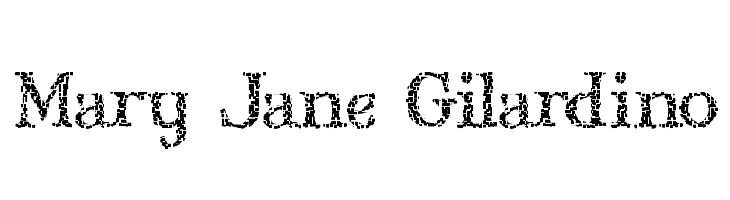 Mary Jane Gilardino  les polices de caractères gratuit télécharger