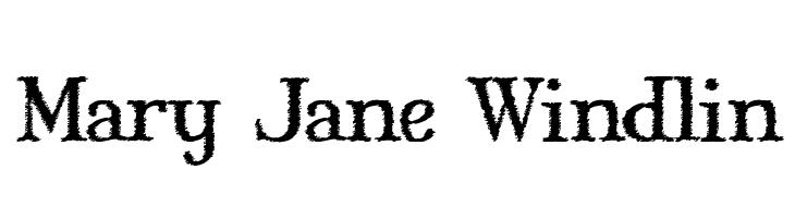 Mary Jane Windlin  les polices de caractères gratuit télécharger