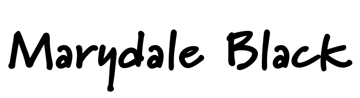 Marydale Black  Free Fonts Download