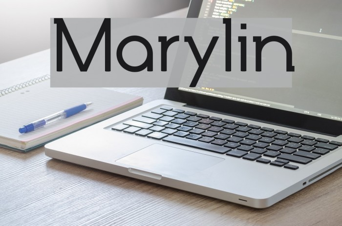 Marylin 字体 examples