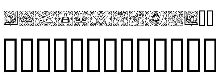 Masonic Font LOWERCASE