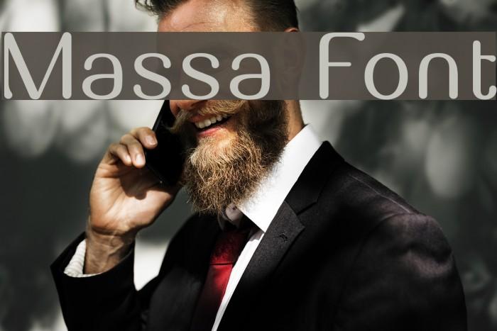 Massa Font examples