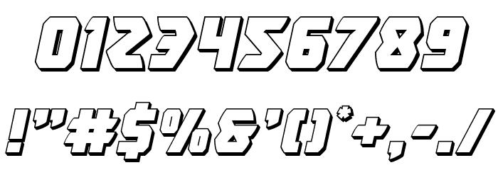 Master Breaker 3D Italic Шрифта ДРУГИЕ символов