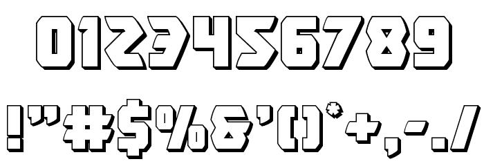 Master Breaker 3D Font OTHER CHARS