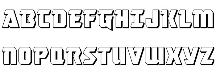 Master Breaker 3D Font UPPERCASE