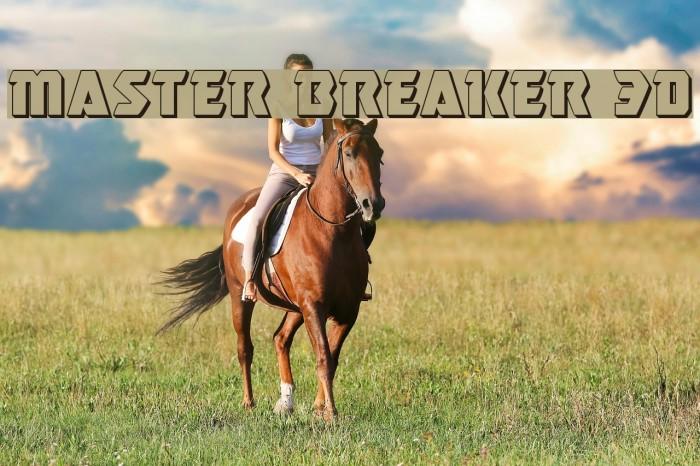 Master Breaker 3D Font examples
