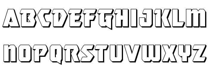 Master Breaker 3D Font LOWERCASE