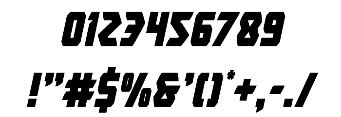 Master Breaker Condensed Italic Font OTHER CHARS