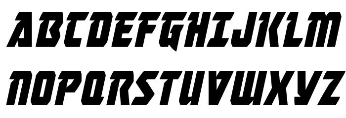 Master Breaker Condensed Italic Шрифта ВЕРХНИЙ