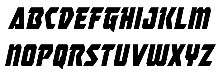 Master Breaker Condensed Italic Шрифта строчной