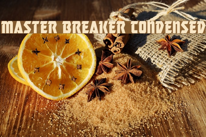 Master Breaker Condensed Caratteri examples