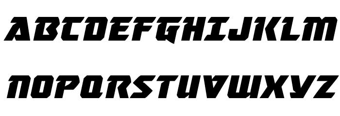 Master Breaker Expanded Italic Font UPPERCASE