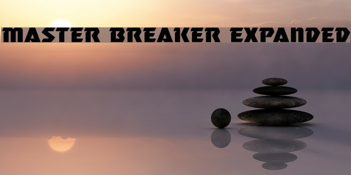 Master Breaker Expanded Шрифта examples