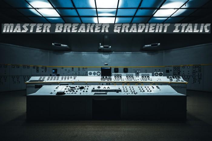 Master Breaker Gradient Italic Caratteri examples