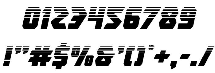 Master Breaker Halftone Italic Font OTHER CHARS