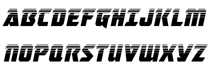 Master Breaker Halftone Italic Font UPPERCASE