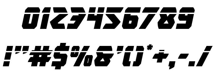 Master Breaker Laser Italic Font OTHER CHARS