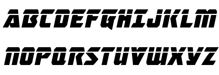Master Breaker Laser Italic Font UPPERCASE
