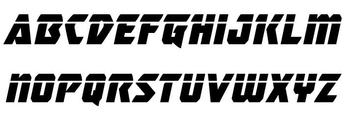 Master Breaker Laser Italic Font LOWERCASE