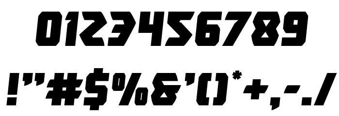 Master Breaker Semi-Italic Шрифта ДРУГИЕ символов