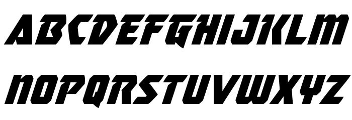 Master Breaker Super-Italic Caratteri MINUSCOLO