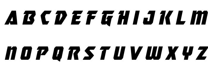 Master Breaker Title Italic Caratteri MINUSCOLO