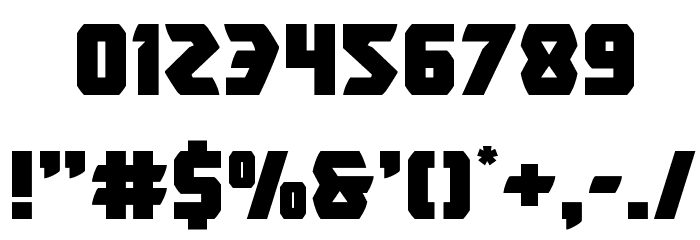 Master Breaker Font OTHER CHARS
