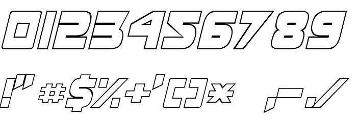 Masterforce Font OTHER CHARS