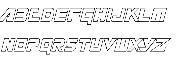 Masterforce Font LOWERCASE