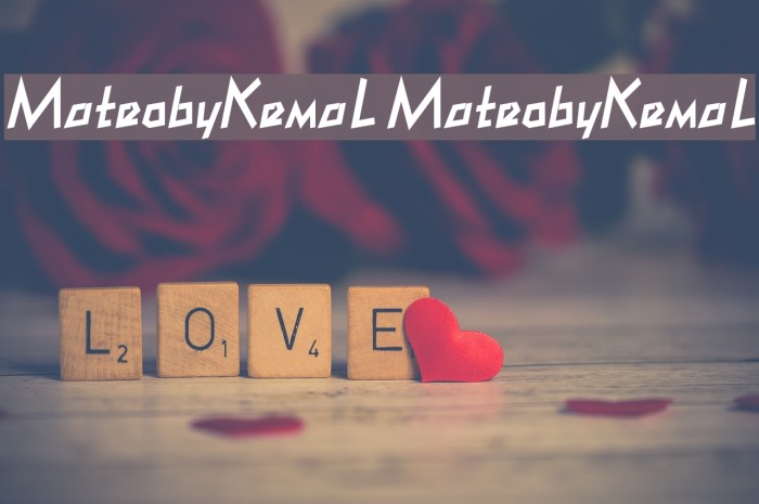 MateobyKemaL MateobyKemaL Font examples