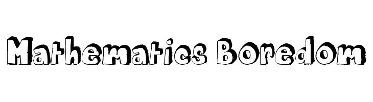 Mathematics Boredom  baixar fontes gratis