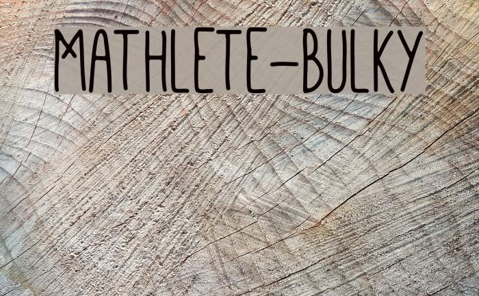 Mathlete-Bulky Font examples