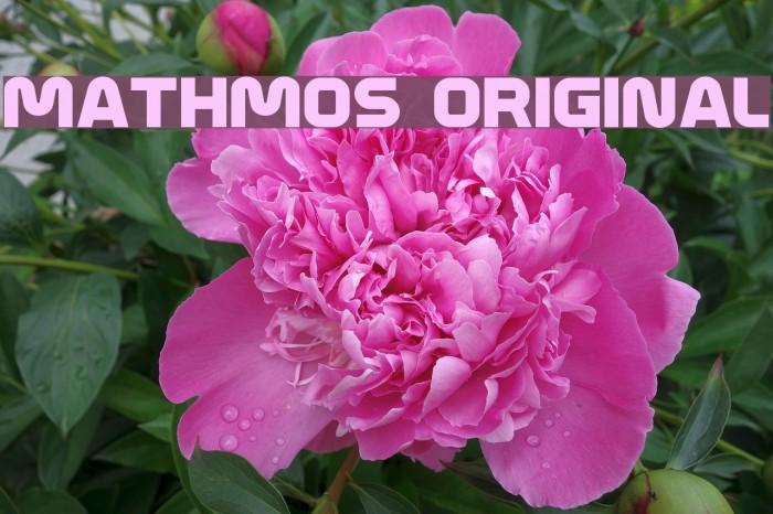 Mathmos Original Fonte examples