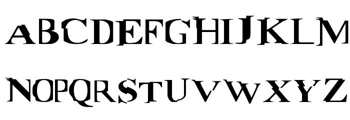 Matrix Font UPPERCASE