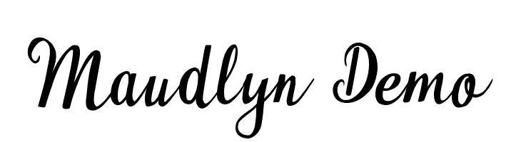 Maudlyn Demo  Descarca Fonturi Gratis
