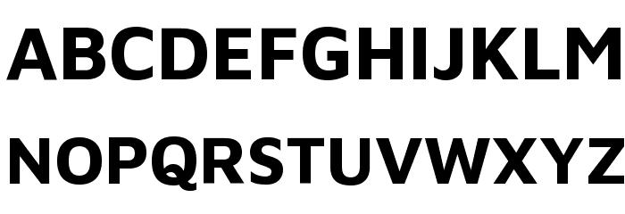 Maven Pro Bold Font UPPERCASE