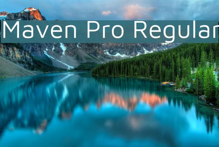 Maven Pro Regular Font examples
