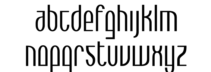 Max  Bold Font LOWERCASE