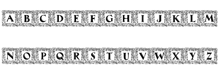 Maximilian Antiqua Initialen Regular Font UPPERCASE
