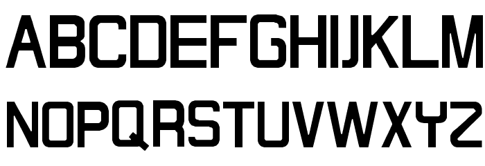 Maximilien Regular Font UPPERCASE