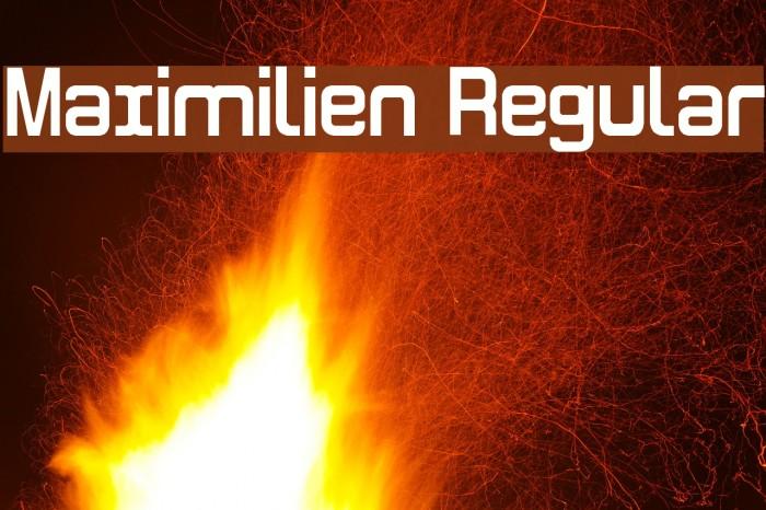 Maximilien Regular फ़ॉन्ट examples