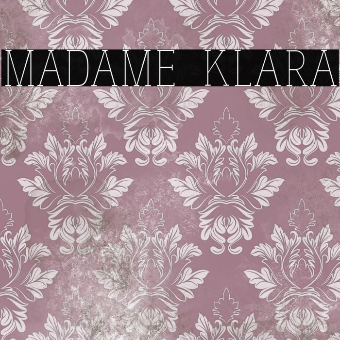 madame klara 字体 examples