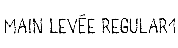 main lev�e regular1  Free Fonts Download