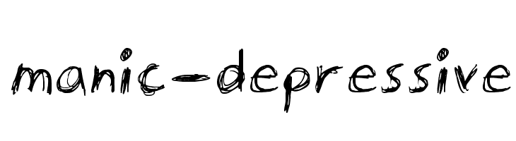manic-depressive  Free Fonts Download