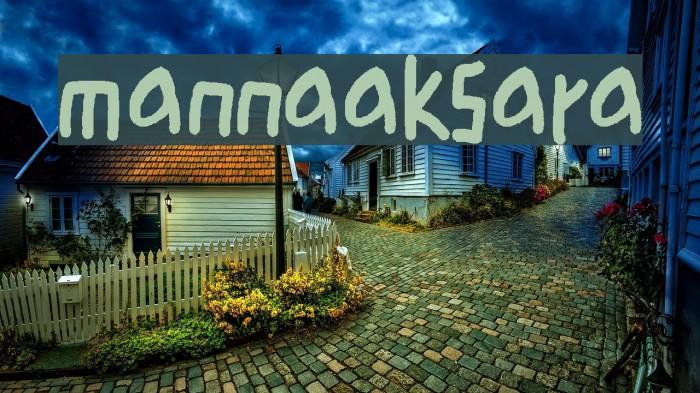 mannaaksara Шрифта examples