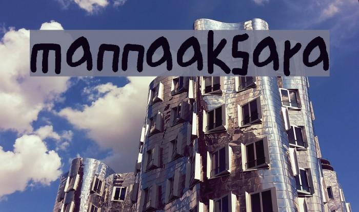 mannaaksara Caratteri examples