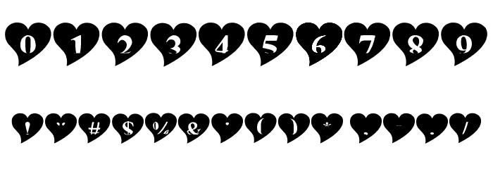 mashy Valentine Font OTHER CHARS