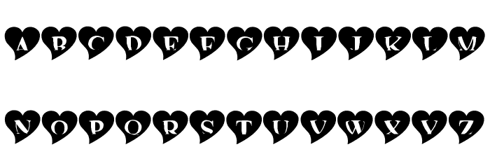 mashy Valentine Font UPPERCASE