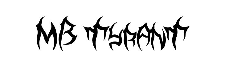 MB TyranT  Скачать бесплатные шрифты