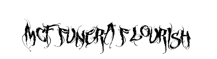 MCF funera flourish Font